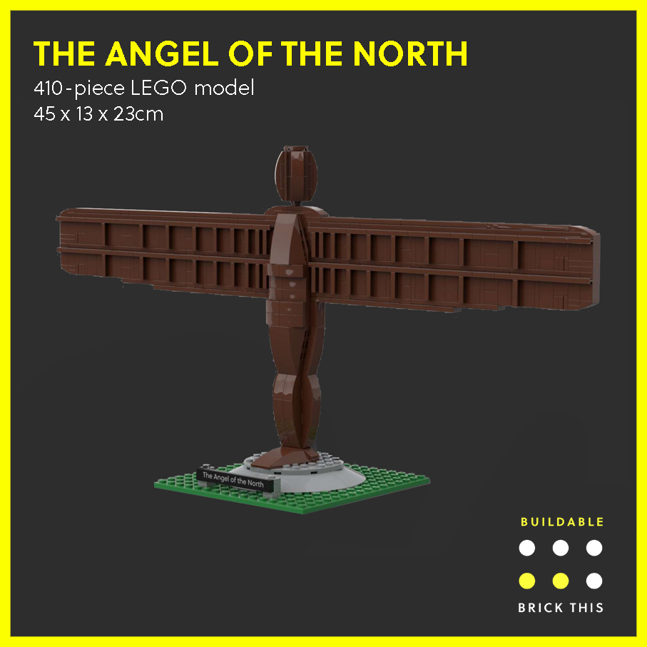 LEGO model of the Angel of the North