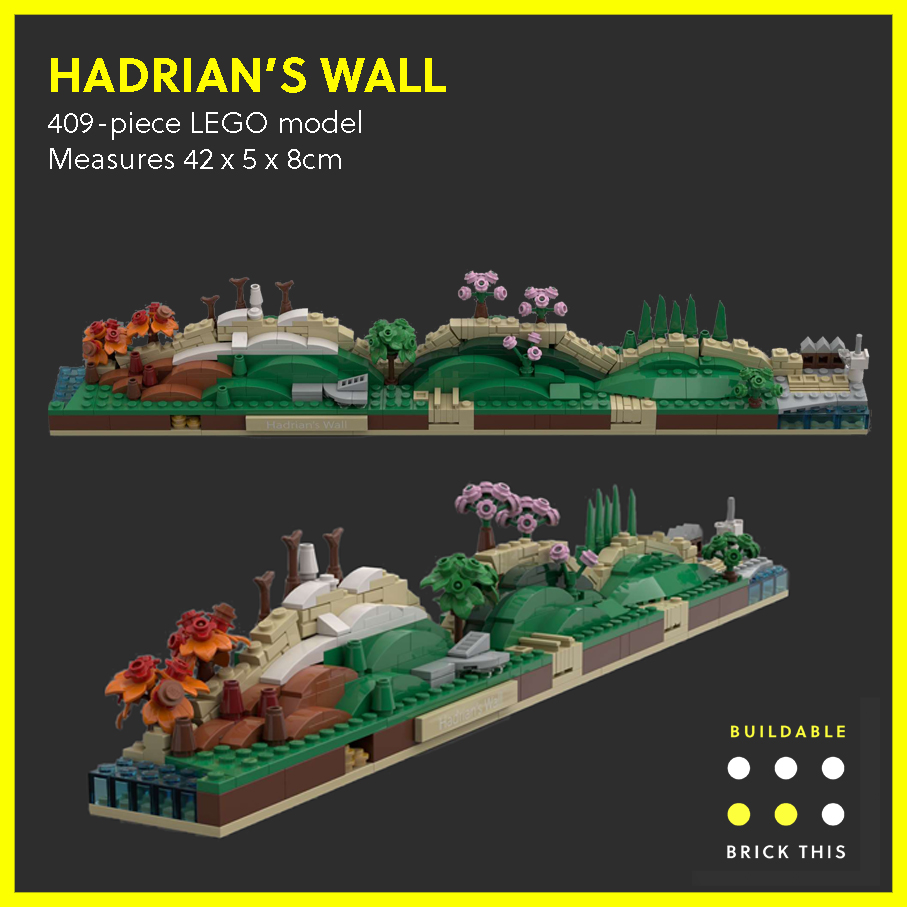 LEGO model of Hadrian's Wall