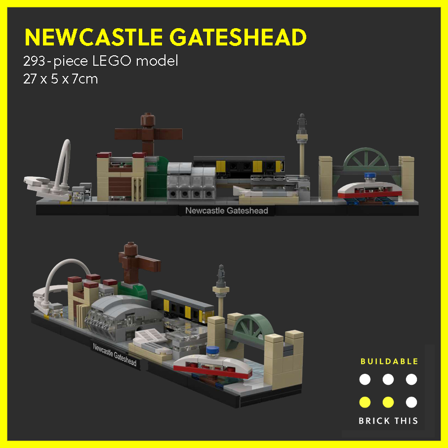 LEGO model of Newcastle Gateshead