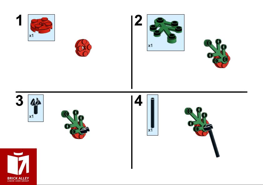 LEGO Remembrance Sunday poppy model instructions 1